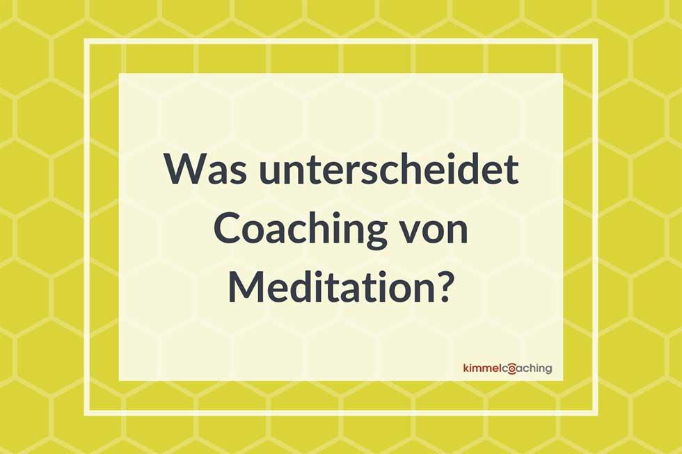 Was unterscheidet Coaching von Mediation?