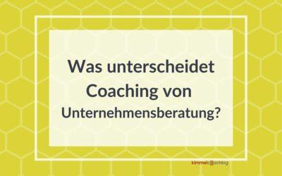 Was unterscheidet Coaching von Unternehmensberatung?