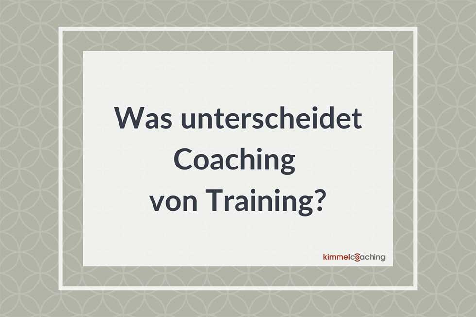Was unterscheidet Coaching von Training?